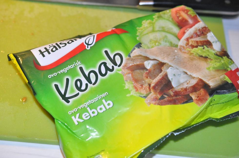 Vegetarisk kebab bönsalsa