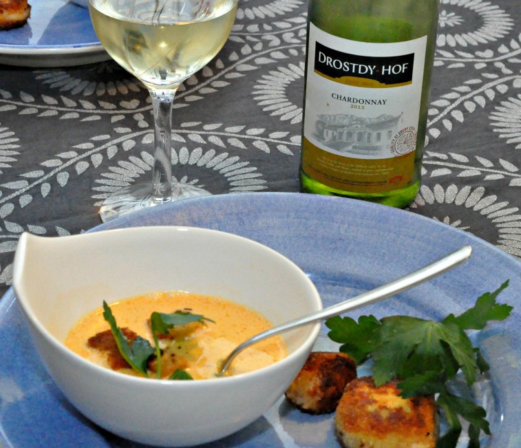 Hummersoppa med crabcakes