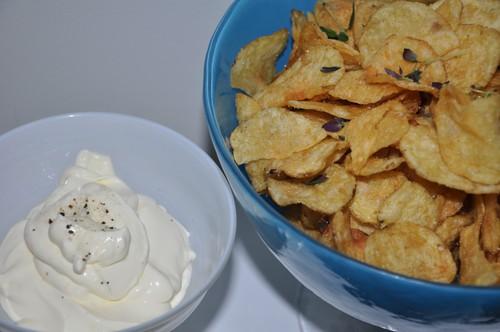 varma chips med tryffeldipp