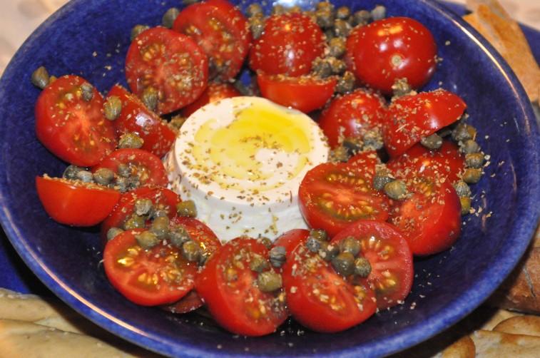 ricotta sallad tomater