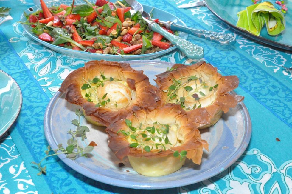 Filodegskorgar med potatismos och chevre