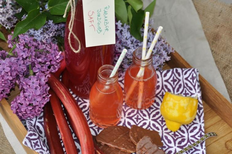 rabarber jordgubbsaft vanilj