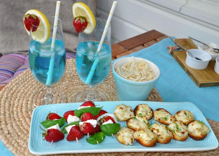 Blue lagoon och snacks