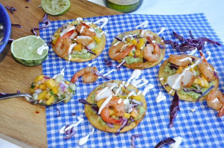 tostadas räkor fisk cono sur cod