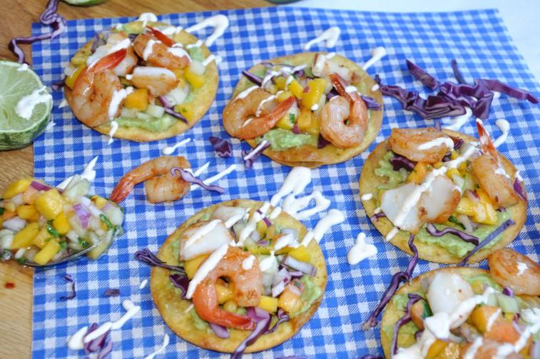 tostadas räkor fisk cono sur shrimp