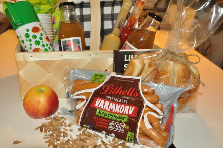 Lithells äppelspånsrökt korv