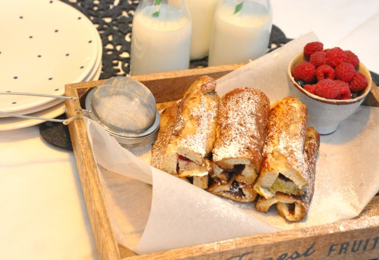 French toast roll up gingerbread