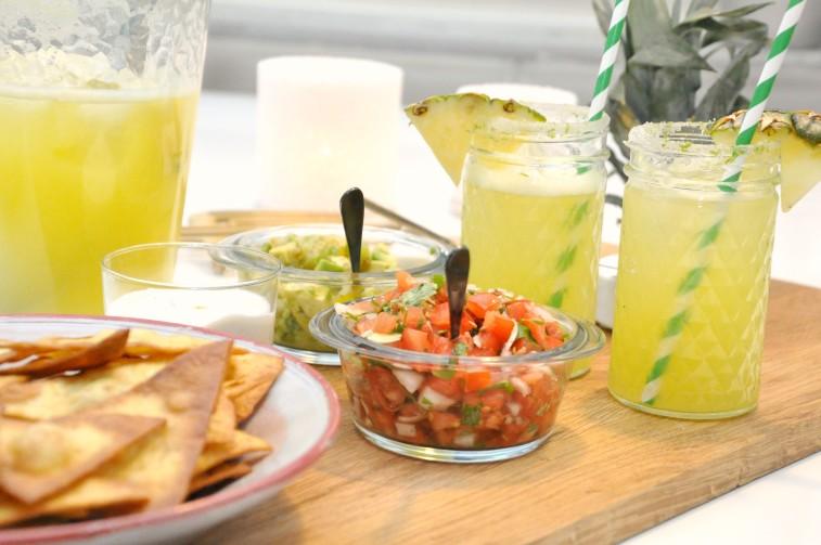 ananas tortilla chips salsa