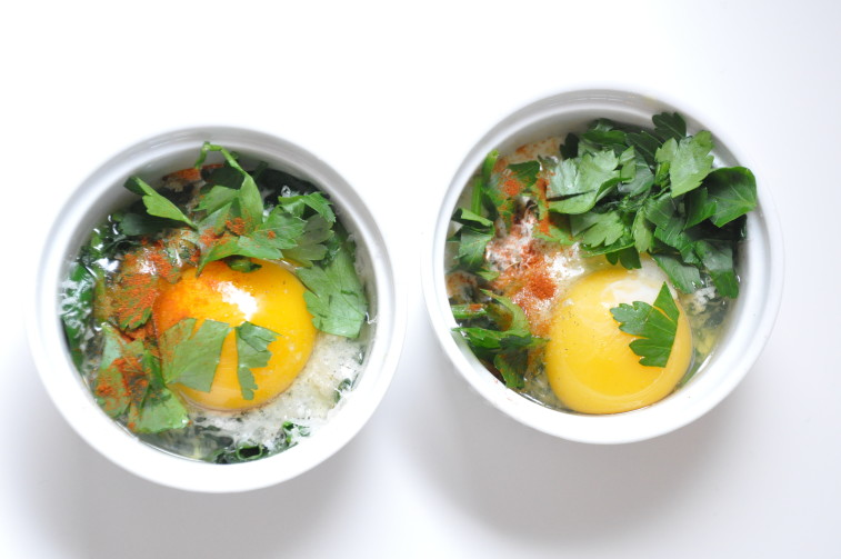 Ägg cocotte egg parmesan cream