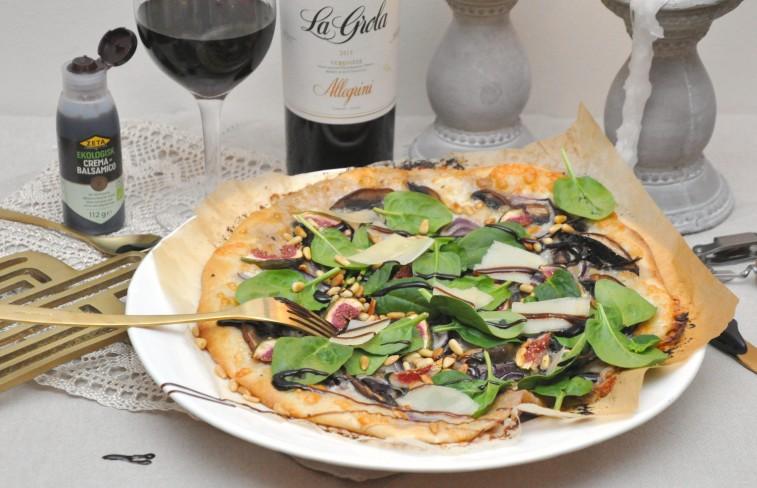 vit pizza fikon portabello pinjenötter