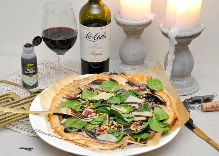 vit pizza fikon portabello spenat white pizza