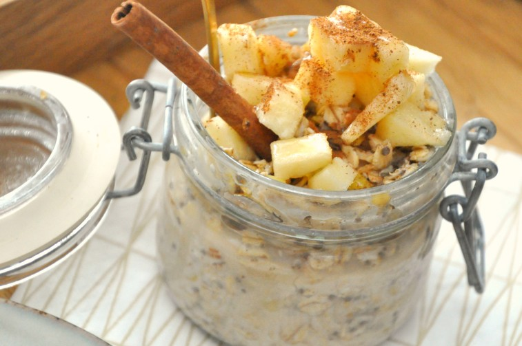 Apple pie overnight oats äpplepaj äppelpaj