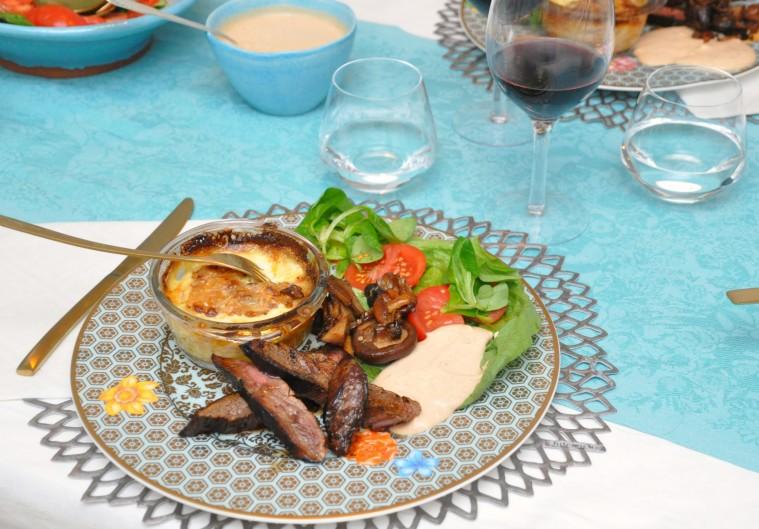 Flankstek choronsås svamp gratäng