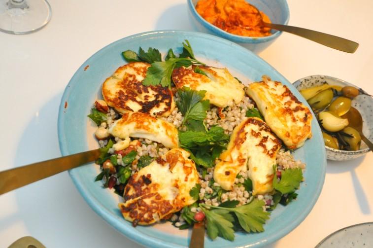 Tabbouleh glutenfri bovete vegetarisk ajvar hummus hoummus