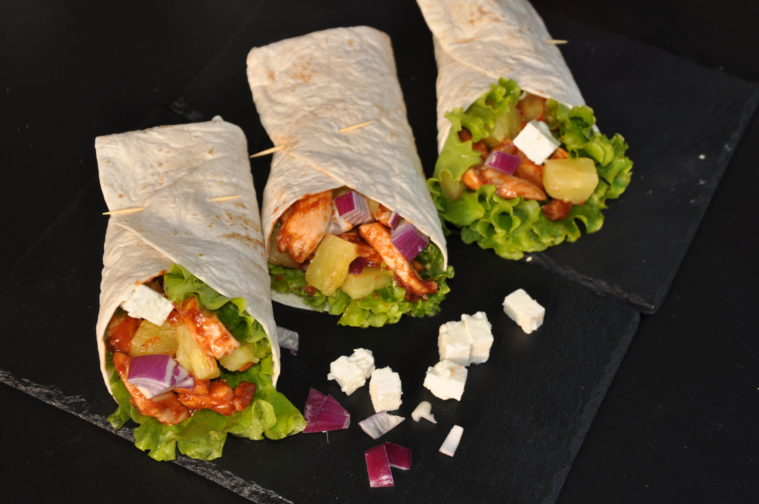 Hawaii wrap kyckling ananas