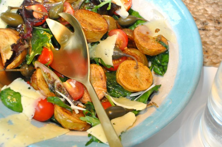 Rostad potatissallad kyckling kapris