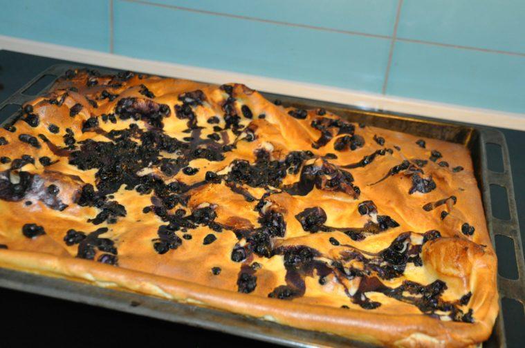 ugnspannkaka med blåbär
