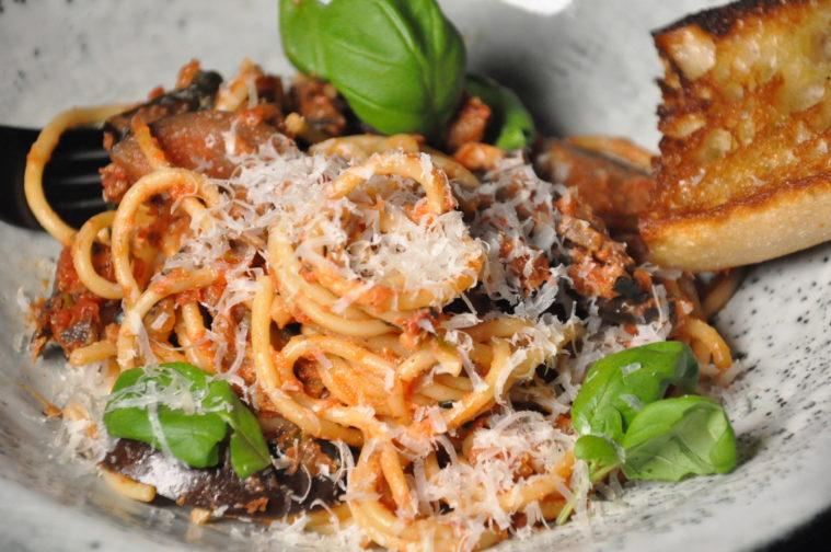 Pasta alla norma sicily siciliansk