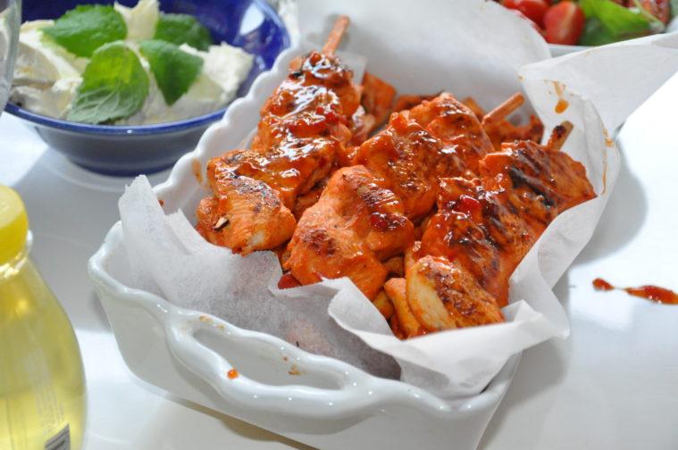 Kycklingspett sweet chili Kronfågel