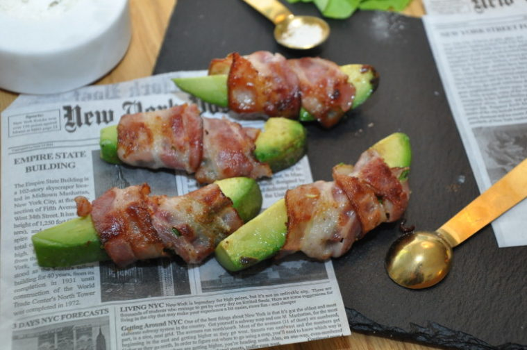 Avocado lindad med bacon