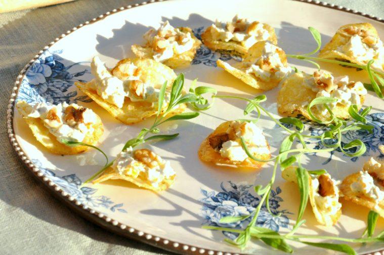 Saint agur aprikoser valnötter chips snacks apero