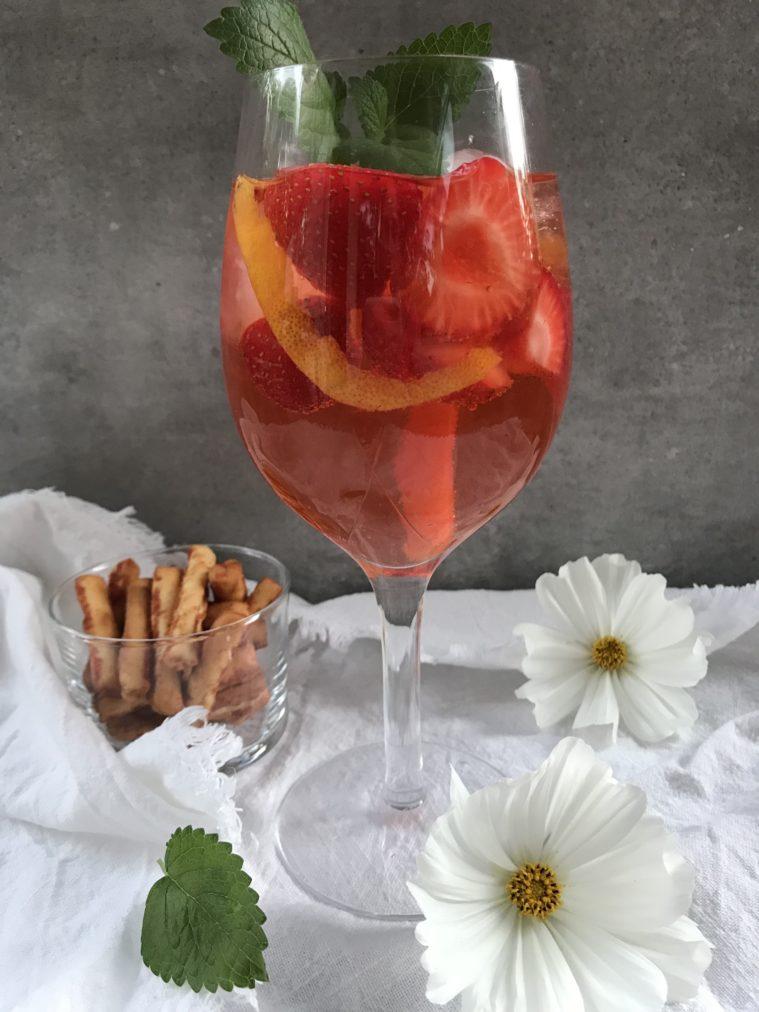 Aperol spritz med jordgubbar