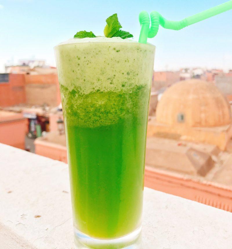 Marocko mynta Marrakech myntalemonad